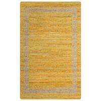 vidaXL Handmade Rug Jute Yellow 160x230 cm