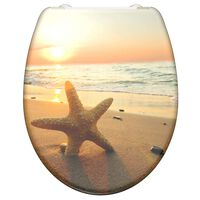 SCHÜTTE Duroplast Toilet Seat with Soft-Close SEA STAR Printed