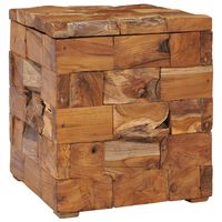 vidaXL Storage Stool Solid Teak Wood