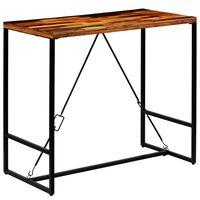 vidaXL Bar Table Solid Reclaimed Wood 120x60x106 cm
