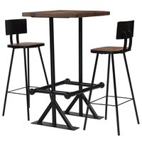 vidaXL Bar Set 3 Piece Solid Reclaimed Wood