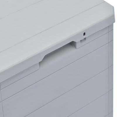 vidaXL Garden Storage Box 90 L Light Grey