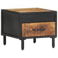 vidaXL Bedside Cabinet 40x40x35 cm Rough Mango Wood