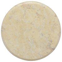 vidaXL Table Top Cream Ø40x2.5 cm Marble