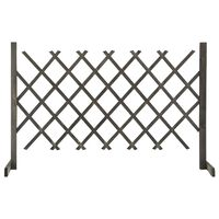 vidaXL Garden Trellis Fence Grey 120x90 cm Solid Firwood