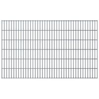 vidaXL 2D Garden Fence Panels 2.008x1.23 m 12 m (Total Length) Grey
