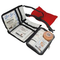 Travelsafe 43 Piece First Aid Kit Globe WP Red