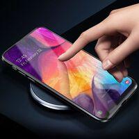 Cás Samsung Galaxy A50 Le Cosantóir Scáileáin Black
