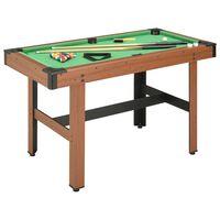vidaXL 4 Feet Billiard Table 122x61x76 cm Brown