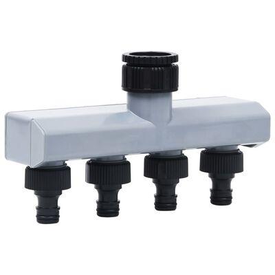 vidaXL Garden Automatic Water Timer 4 Way Valve