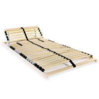 vidaXL Slatted Bed Base with 28 Slats 7 Zones 80x200 cm