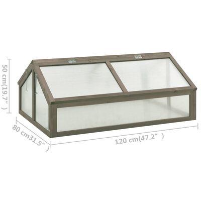 vidaXL Greenhouse 120x80x50 cm Firwood