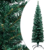 vidaXL Slim Artificial Christmas Tree with Stand Green 150 cm PVC