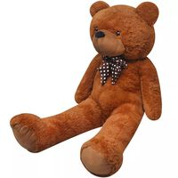 vidaXL XXL Soft Plush Teddy Bear Toy Brown 160 cm