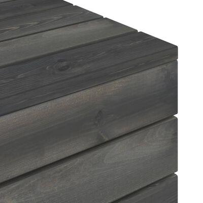 vidaXL Garden Pallet Tables 2 pcs Solid Pinewood Dark Grey