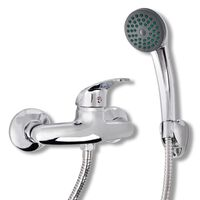 vidaXL Bath Shower Mixer Tap Kit Chrome