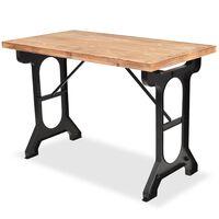 vidaXL Dining Table Solid Fir Wood Top 122x65x82 cm