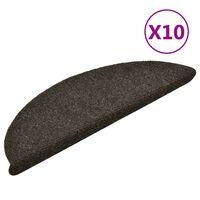 vidaXL Self-adhesive Stair Mats 10pcs Light Brown 56x17x3cm Needle Punch