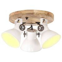 vidaXL Industrial Ceiling Lamp 25 W White 42x27cm E27
