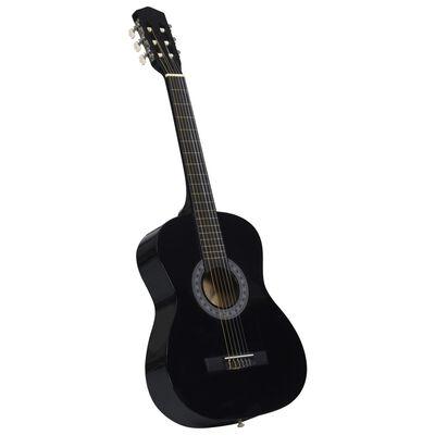 "vidaXL Classical Guitar for Beginner with Bag Black 3/4 36"""