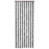 vidaXL Insect Curtain Grey and White 90x200 cm Chenille