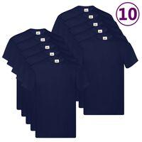 Fruit of the Loom Original T-shirts 10 pcs Navy XXL Cotton