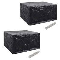 vidaXL Garden Furniture Covers 2pcs 6 Person Poly Rattan 172x113cm