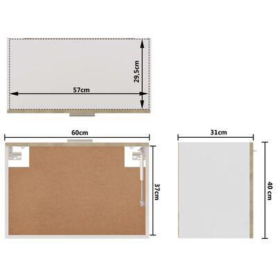 vidaXL Hanging Cabinet Sonoma Oak 60x31x40 cm Chipboard