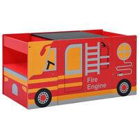vidaXL 3 Piece Kids Chair Table Set Fire Truck Design Wood
