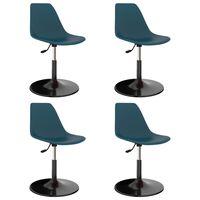 vidaXL Swivel Dining Chairs 4 pcs Turquoise PP