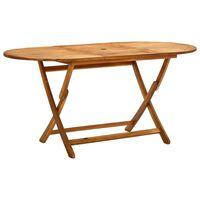 vidaXL Folding Garden Table 160x85x75 cm Solid Acacia Wood