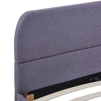 vidaXL Bed Frame Light Grey Fabric 135x190 cm