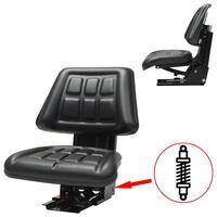 vidaXL Tractor Seat with Suspension Black