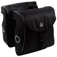 Willex Bicycle Panniers 300 Flexi 24 L Black and Silver
