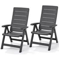 Allibert Reclining Garden Chairs Brasilia 2 pcs Graphite 222970
