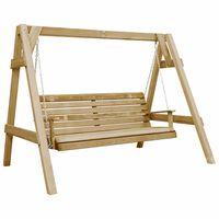 vidaXL Garden Swing Bench Impregnated Pinewood 205x150x157 cm