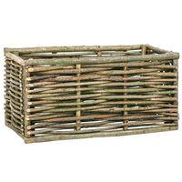 vidaXL Raised Garden Raised Bed 80x40x40 cm Hazel Wood