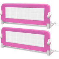 vidaXL Toddler Safety Bed Rail 2 pcs Pink 102x42 cm
