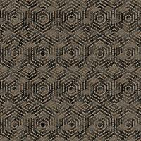 DUTCH WALLCOVERINGS Wallpaper Geometric Brown and Black