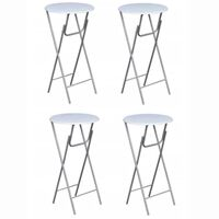 vidaXL Bar Tables 4 pcs with MDF Tabletop White