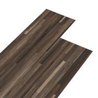 vidaXL PVC Flooring Planks 5.26 m² 2 mm Striped Brown