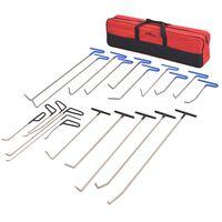 vidaXL 21 Piece Paintless Dent Repair Set Stainless Steel