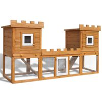 vidaXL Outdoor Large Rabbit Hutch House Pet Cage Double House