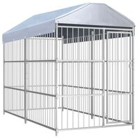 vidaXL Outdoor Dog Kennel with Roof 300x150x200 cm