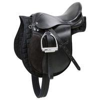 Kerbl Haflinger Saddle Leather Black 32285