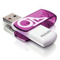 Philips USB 2.0 Flash Drive Vivid 64GB White and Purple
