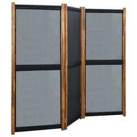 vidaXL 3-Panel Room Divider Black 210x170 cm