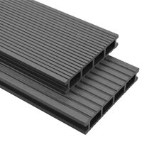 vidaXL WPC Decking Boards with Accessories 16 m² 2.2 m Grey