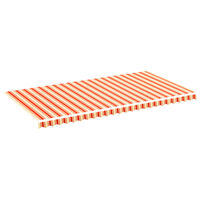 vidaXL Replacement Fabric for Awning Yellow and Orange 6x3 m