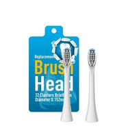 Replacement heads for electric toothbrushes, 2-pack
